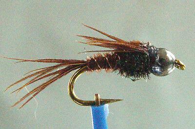 lot de 55 mouches NYMPHE PHEASANT TAILS peche truite Fishing Flies rivière nymph
