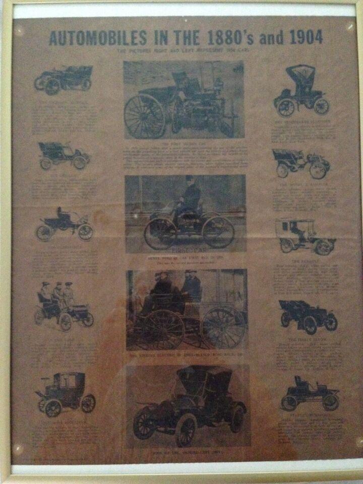 Billede af automobiles 1880-1904, Udklip fra 1970
