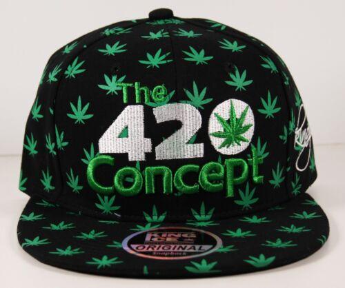 Rasta Ganja Weed Bad 420 concetto tutta Foglia Piatta Picco Cappellino Snap Back