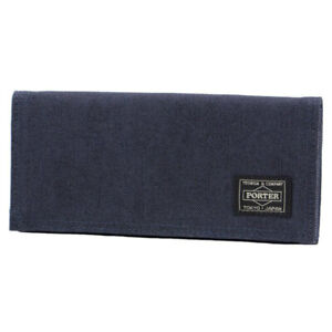 NEW YOSHIDA PORTER SMOKY WALLET 592-06333 Navy With tracking From Japan