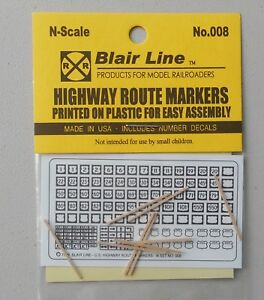 N-Scale-Highway-Route-Markers-Signs-SCALE-TRAIN-LAYOUT-DIORAMA-BLAIR-LINE-008
