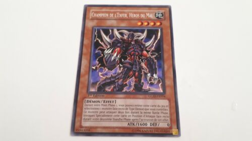 Champion l enfer heros of evil glas-rare-yugioh card