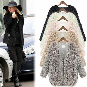 warm damen wollmantel trench blazer jacke kurz parka winterjacke coat gr s xl ebay. Black Bedroom Furniture Sets. Home Design Ideas