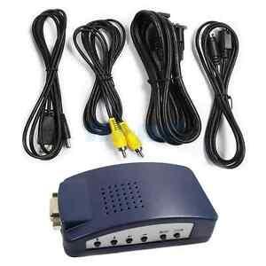 New-PC-VGA-to-AV-TV-RCA-S-Video-Converter-Box-Adapter-Dark-Blue