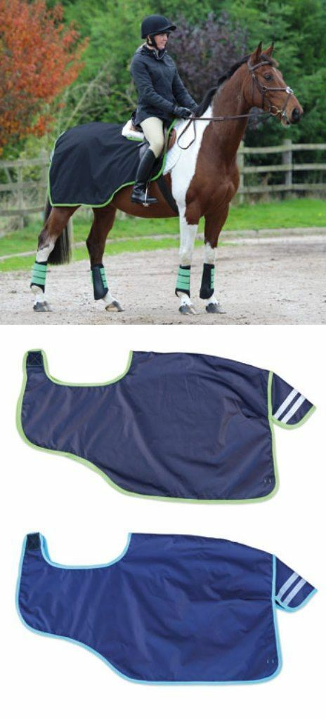 Shires Continental Pattern Waterproof Exercise Sheet With Reflective Strips (59)
