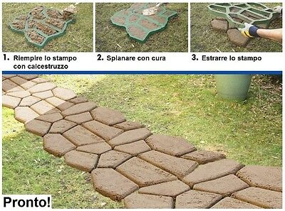 Stampo cemento vialetti cordolo vialetto marciapiede giardino fai da te nuovo