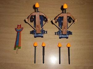Playmobil BALLESTA, CAÑONES Y ESTANDARTE, EGIPCIO, MEDIEVAL, armes à feu, canons