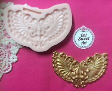 Wings vintage scroll silicone mold fondant cake decorating food wax soap jewel