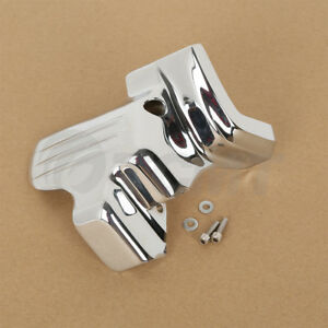 SLMOTO Chrome Starter Cover Fit for Harley Touring Road King Street Electra Glide 2007-2016