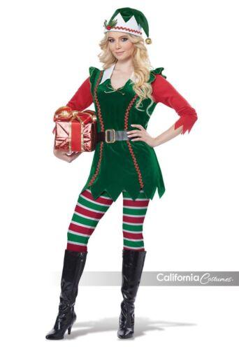California Costume Festive Elf Adult Womens Christmas Xmas Holiday Costume 01493