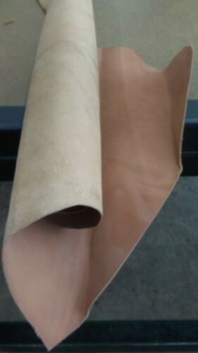 """Italian Vegetable Tanned /""""Thin/"""" Cowhide leather skin Hazelnut 4/"""" x 6/"""" Inches."""