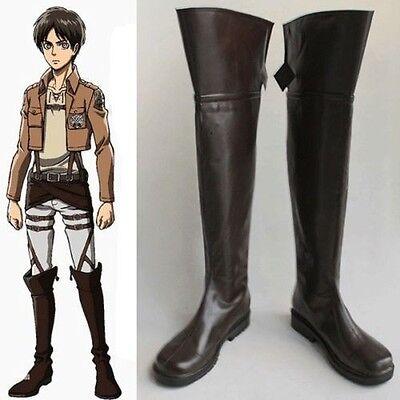 Shingeki no Kyojin Attack on Titan Eren Jäger Boots Cosplay Costume Shoes
