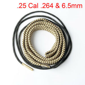Bore Snake Cleaning Boresnake Barrel Brass Cleaner .25 Cal .264&6.5mm Caliber