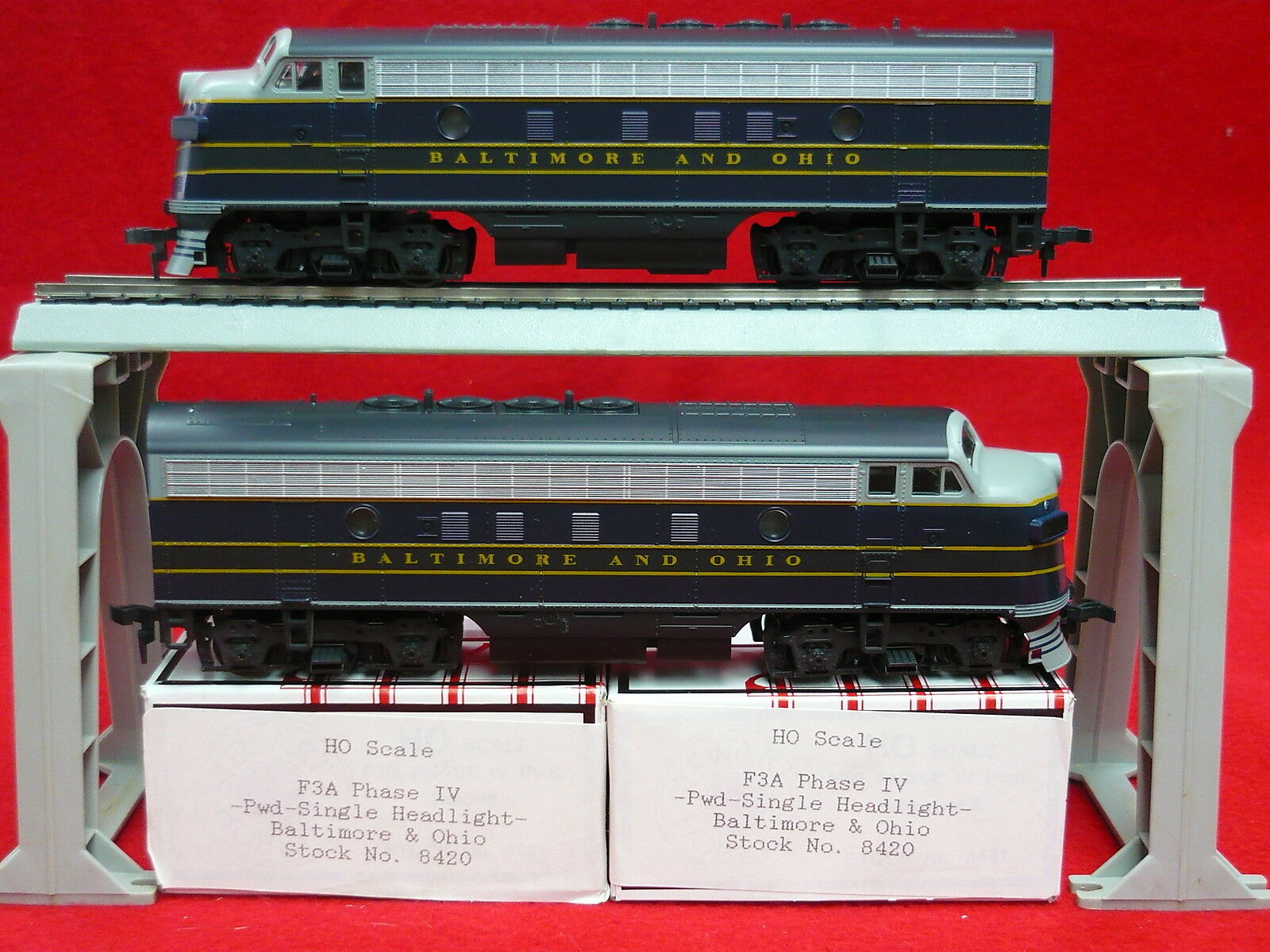 Stewart F3 Engine Baltimore & Ohio 8420 8420 F3AA Set Kato Drive B &O