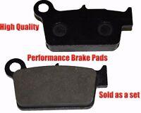 Yamaha Yz125 Rear Brake Pads Racing Pro Factory Braking 2003-2012 on sale
