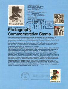 USPS-Souvenir-Page-7816-Photography-1758-w-CTC-Photos-w-FDC