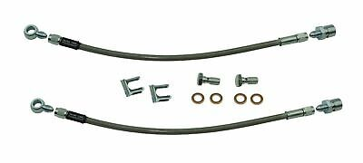 "1979-08 GM Black Stainless Braided Hose 10mm Banjo to 3//16 Brake Line 15/"" Long"