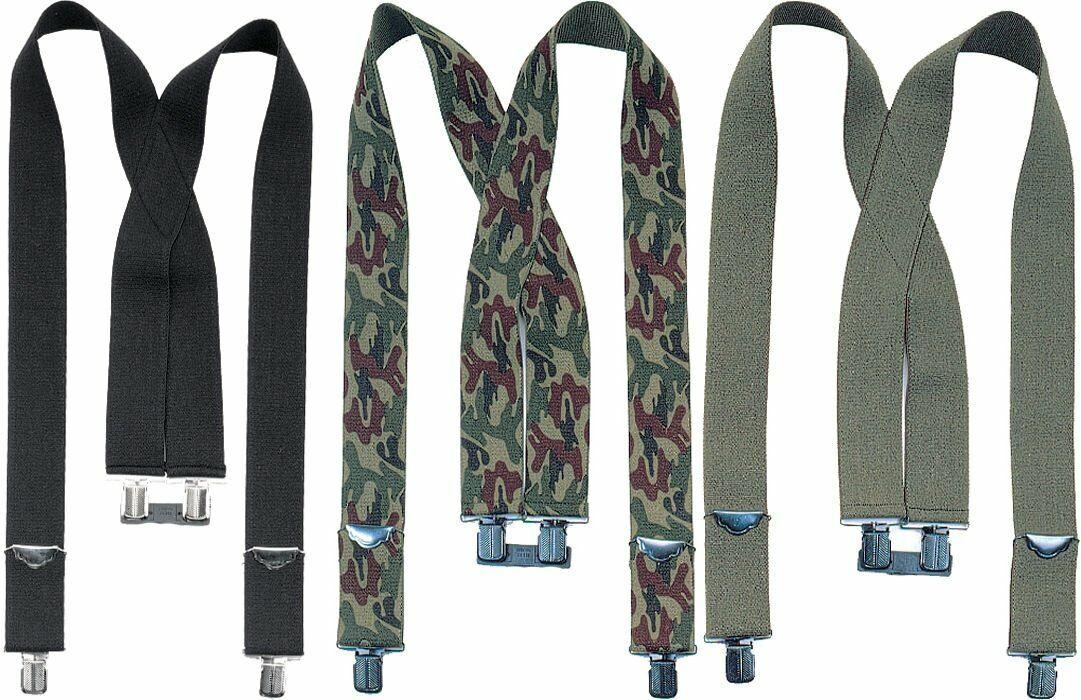 2 in Wide Heavy Duty Suspenders X Back Clip Adjustable Braces Strong Elastic 2