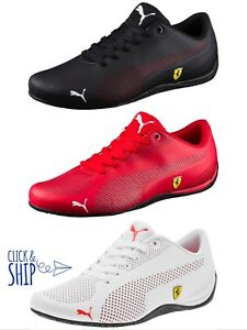 Men s Puma Ferrari Motorsport Drift Cat 5 Ultra Shoes RED WHITE ... e3e96413b
