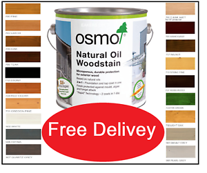 Osmo ® Natural Oil Woodstain 19 Shades, 5ml, 125m, 750ml, 2.5L