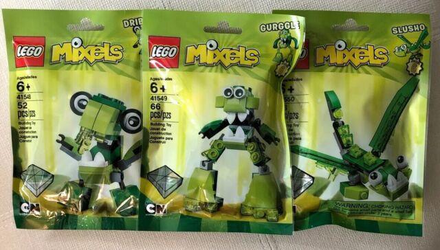 Mixels Serie 6 NEU Lego 41548 Dribbal 41549 Gurggle 41550 Slusho