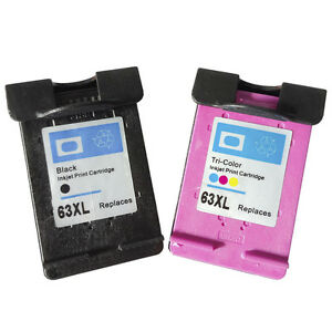 4PK for HP 63XL Black Color Ink Cartridge High Yield for HP ENVY 4520 4522 4512