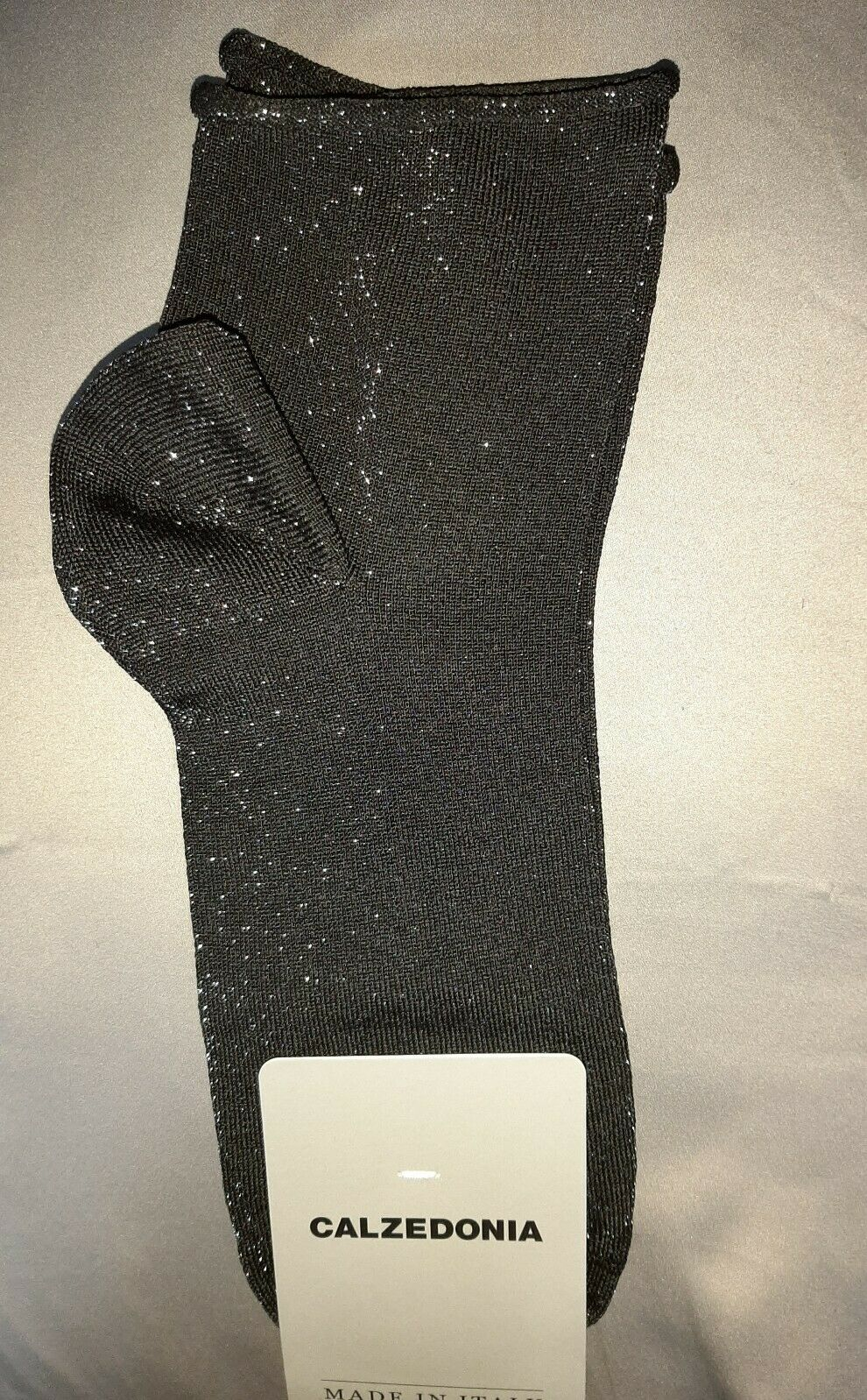 Calzedonia Socken Strümpfe Glitter Nero Antracite NEU One Size Einheitsgröße