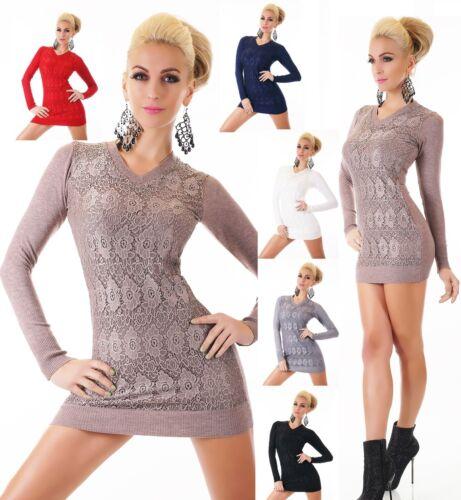 Túnica suéter Sweater Long suéter punta pedrería