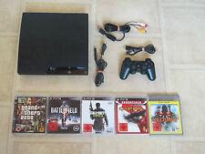 Playstation 3 Slim Konsole 120GB mit 5 Gratis Spiele und Controller PS3 (USK 18)