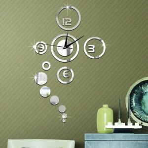 Mirror-Stickers-Wall-Clocks-Acrylic-DIY-Quartz-Needle-Clock-Watch-Home-Decor-New