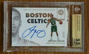 2017-Panini-encased-Jayson-Tatum-autograph-rookie-card-60-99-bgs-9-5-10-celtics