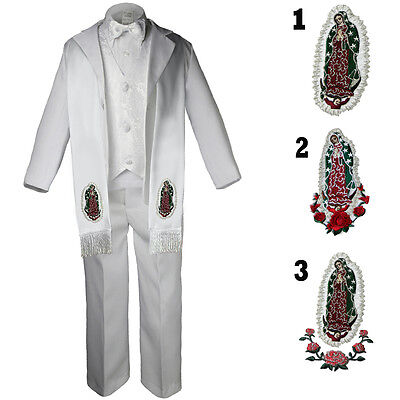 Honest Baby Toddler & Boy Christening Baptism Formal White Tuxedo Suit With Stole Sm-20 Numerous In Variety
