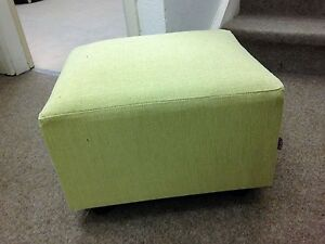 Remarkable Details About Footstool Small Box Stool Pouffe Gift Lime Green Linen Look British Made Squirreltailoven Fun Painted Chair Ideas Images Squirreltailovenorg