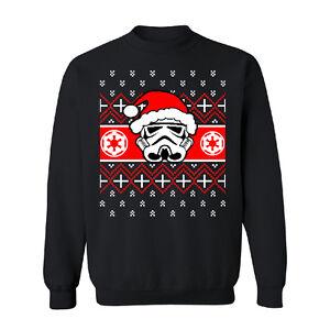 Santa-Darth-Vader-Star-Wars-Unisexe-ras-du-cou-Noel-Ugly-Sweater-Sweat