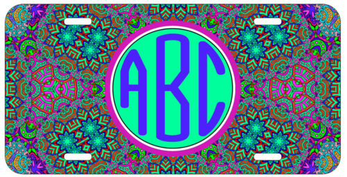 Personalized Monogrammed Aztec Indian Summer License Plate Custom Car Auto L114