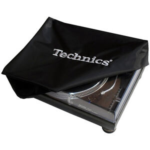 TECHNICS-LOGO-TURNTABLE-DECK-COVER-CLASSIC-DECKB1-Black-Logo-Silver-NEW