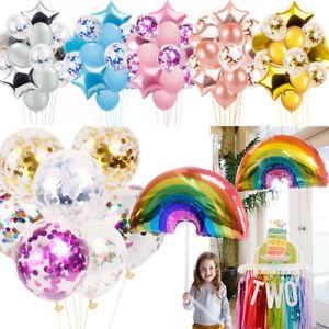 Rainbow-Foil-Latex-Confettis-Anniversaire-Mariage-Fete-Baby-Shower-Helium-Ballons