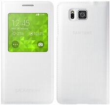 Original Samsung S View Flip Funda Galaxy Alpha Sm g850f Smartphone cubierta de libro