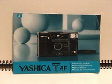Yashica T AF Instruction Manual Bedienungsanleitung