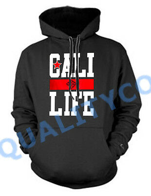 Cali Life Black Hoodie Sweater California Republic Diamond Dope Sweatshirt