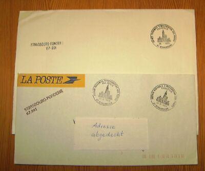 2019 Neuer Stil Frankreich, 2 Belege 'strasbourg-fonderie' 67.991, Motivstempel, 1989 HeißEr Verkauf 50-70% Rabatt