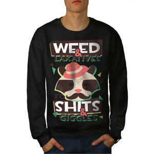 420 Black Weed Felpa Raccoon Funny Men New a0nEpx
