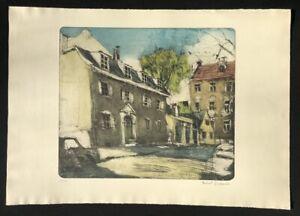 Herbert-Bodemer-In-der-Seestrasse-Farbradierung-1974-handsigniert-u-numm