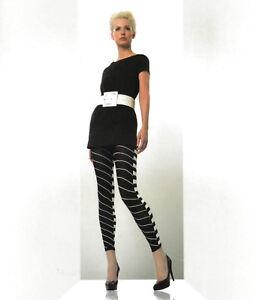 White One Size Tropf-Trocken Damenmode ZuverläSsig Pretty Polly Leggins Optical Footless Tight Leg Looks Black