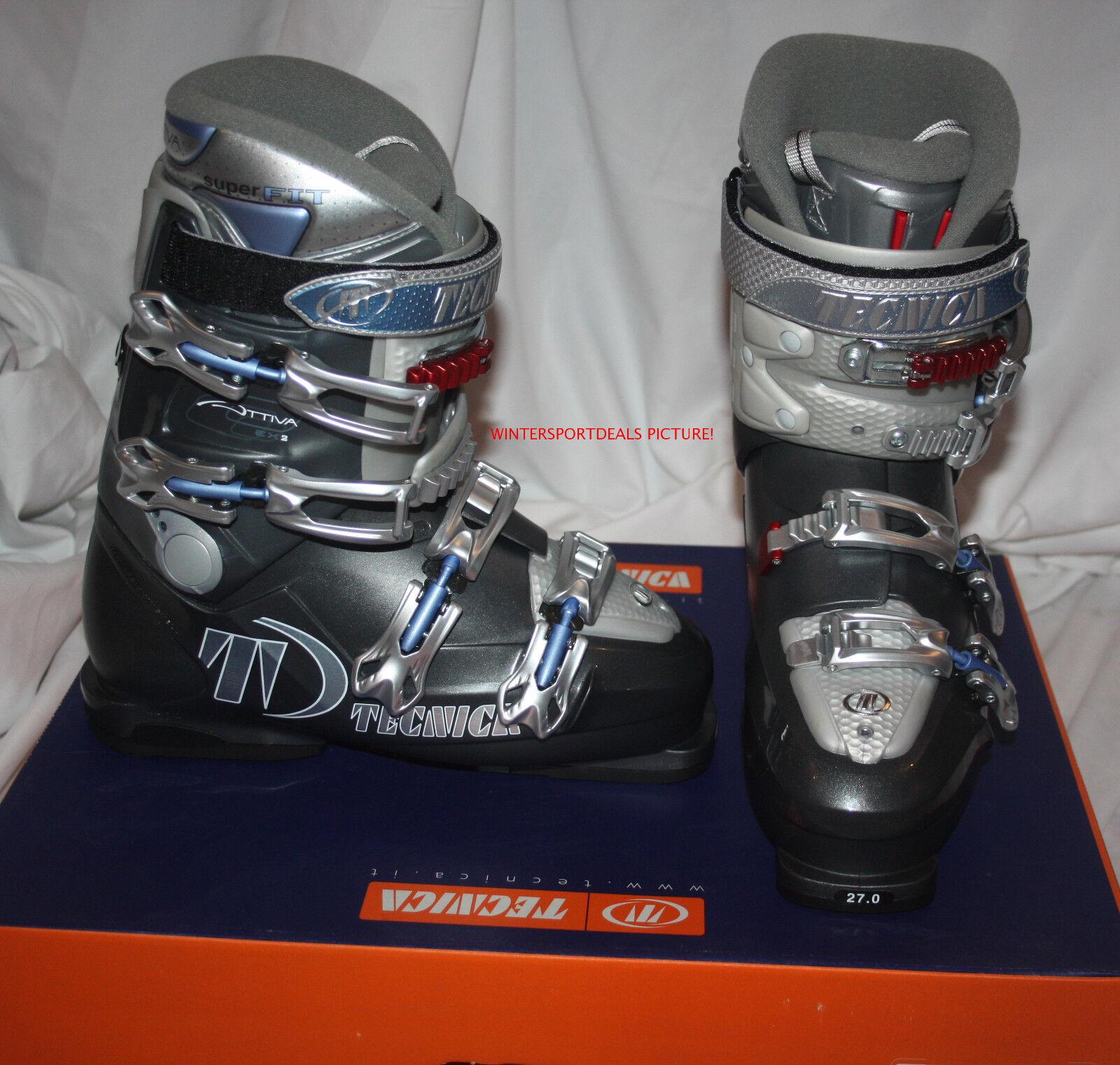Tecnica Attiva EX2 Superfit women's Ski boots  size mondo 27   US 10 women new
