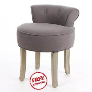 Image Is Loading Dressing Table Chair Low Back Stool Grey Las
