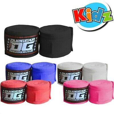 KIDS JUNIOR  DUO GEAR MMA MIXED MARTIAL ARTS THAIBOXING HAND WRAPS 1.5m