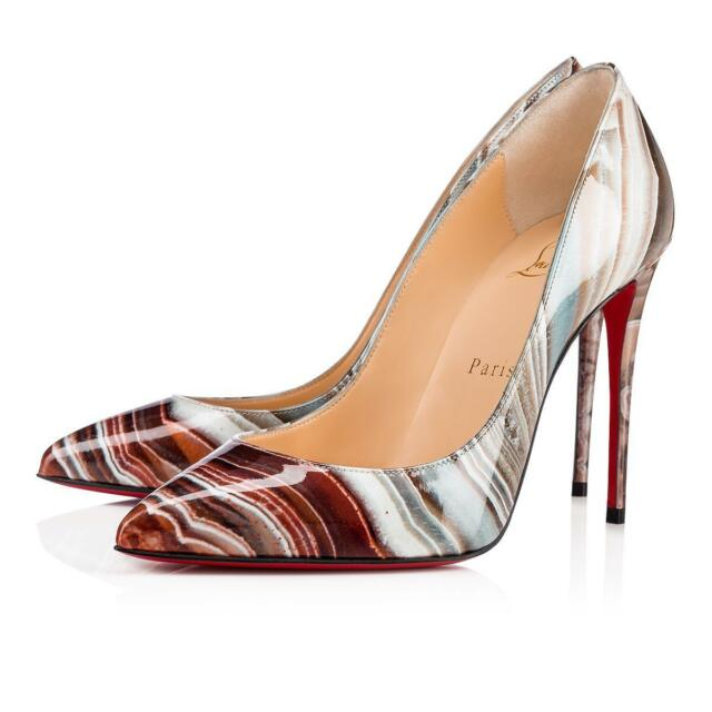 buy popular fe6ea a2d1c Christian Louboutin Pigalle Follies 100 Patent Pump 36.5