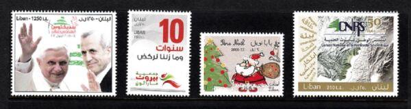 100% De Qualité Liban-liban Neuf Sans Charnière Sc # 689, 690, 691, 694 Tout Neuf Sans Charnière