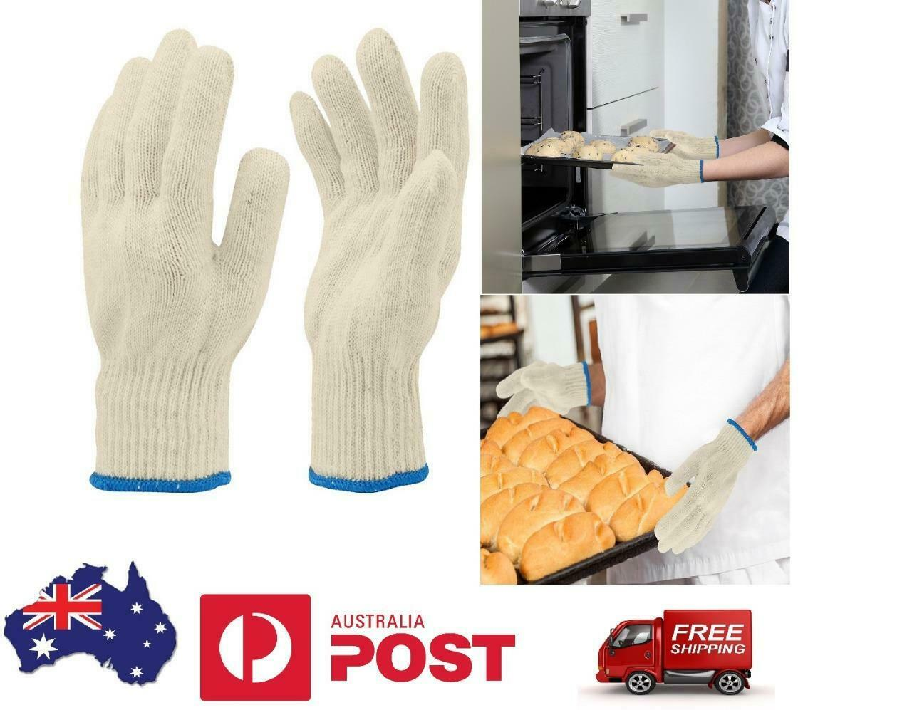 1 Pair Oven Gloves Mitts Hand Kitchen Cooking Baking Heat Resistant Cotton BBQ